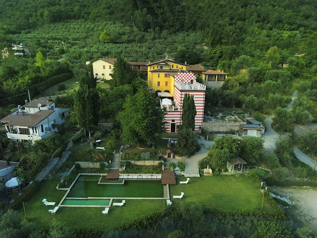 Villa Bissiniga viewed from the sky