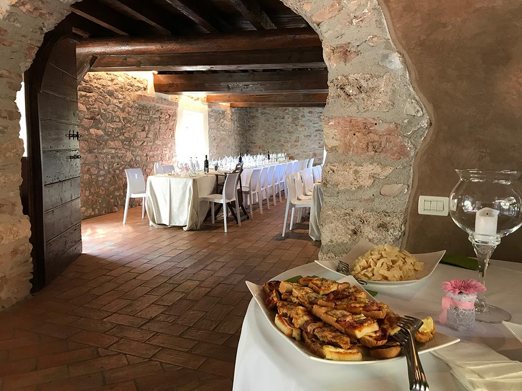Food buffet in the tavern