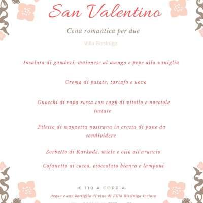 Menù San Valentino